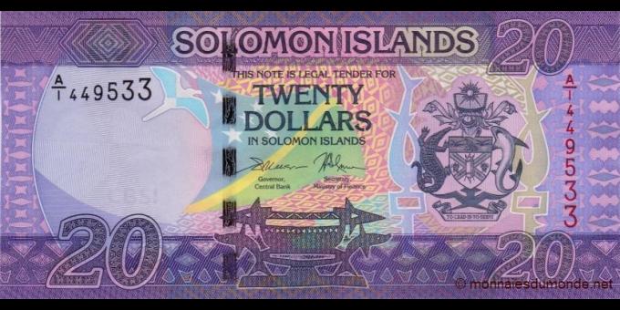 Salomon - p34a - 20 Dollars - ND (2017) - Central Bank of Solomon Islands