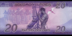 Salomon - p34a - 20Dollars - ND (2017) - Central Bank of Solomon Islands