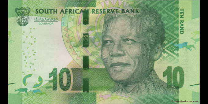afrique du sud - p138b - 10 rand - ND (2016) - South African Reserve Bank