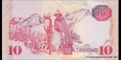 Lesotho - p11 - 10 Maloti - 1990 - Central Bank of Lesotho