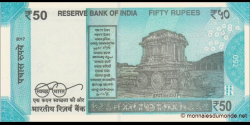 Inde - p111a - 50 Roupies - 2017 - Reserve Bank of India