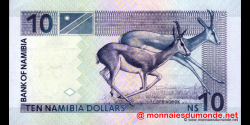 Namibie - p04b - 10 dollars - 2001 - Bank of Namibia