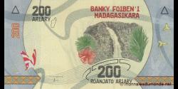 Madagascar - p-98- 200 ariary - ND (2017) - Banky Foiben'i Madagasikara