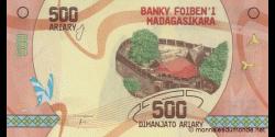 Madagascar - p-99- 500 ariary - ND (2017) - Banky Foiben'i Madagasikara