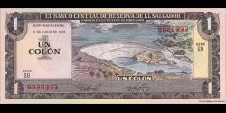 Salvador - p133A - 1 Colon - 3.06.1982 - Banco Central de Reserva de El Salvador