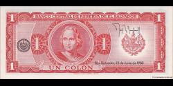 Salvador - p133A - 1 Colon -1982 - Banco Central de Reserva de El Salvador