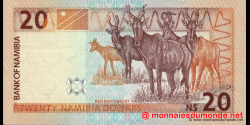 Namibie - p06a - 20 dollars - 2001 - Bank of Namibia