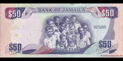 Jamaïque - p89 - 50 Dollars - 06.08.2013 - Bank of Jamaica