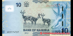 Namibie - p11a - 10 dollars - 2012 - Bank of Namibia