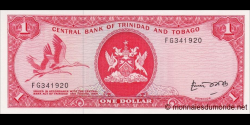 Trinidad et Tobago - p30b - 1 Dollar - L.1964 - Central Bank of Trinidad and Tobago