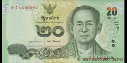 Thaïlande - p130 - 20 Baht - 2017 - Bank of Thailand