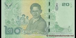 Thaïlande - p130 - 20Baht - 2017 - Bank of Thailand