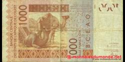 Niger - p615Ha - 1.000 Francs - 2004 - Banque Centrale des États de l'Afrique de l'Ouest