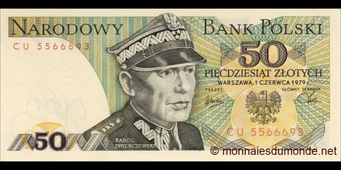 Pologne - p142b - 50Złotych - 1979 - Narodowy Bank Polski