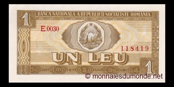 Roumanie - p091 - 1 Leu - 1966 - Banca Naţională a Republicii Socialiste România