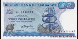 Zimbabwe - p01a - 2 Dollars - 1980 - Reserve Bank of Zimbabwe