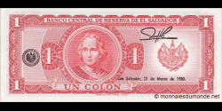 Salvador - p125a - 1 Colon - 1980 - Banco Central de Reserva de El Salvador