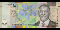 Bahamas - p77 - 1 Dollar - 2017 - Central Bank of the Bahamas