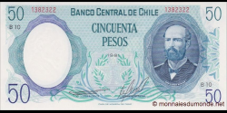 Chili - p151b - 50 Pesos - 1981 - Banco Central de Chile