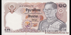 Thaïlande - p087b - 10 Baht - ND (1980) - Bank of Thailand