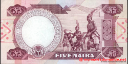 Nigeria - p24g - 5 Naira - 2001 - Central Bank of Nigeria