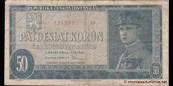 Tchécoslovaquie - p66 - 50 Korun Ceskoslovenských - 1948 - Republika Československá