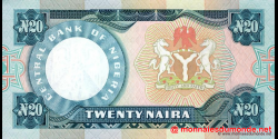 Nigeria - p26j - 20 Naira - 2005 - Central Bank of Nigeria