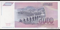 Yougoslavie - p111 - 5.000 Dinara / Dinarjev / Dinari - 1991 - Narodna Banka Jugoslavije / Narodna Banka na Jugoslavija