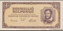 Hongrie - p128 - 1.000.000Milpengő - 24.05.1946 - Magyar Nemzeti Bank
