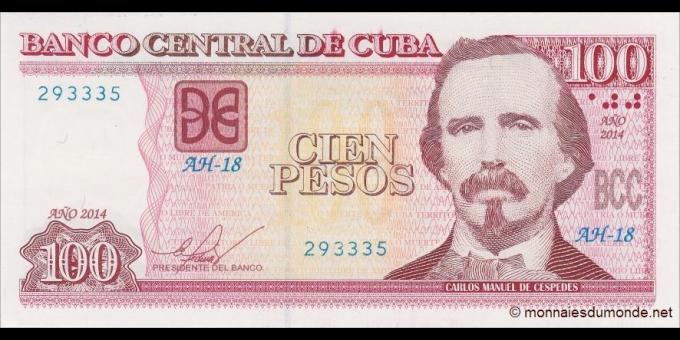 Cuba - p129f - 100 Pesos - 2014 - Banco Central de Cuba
