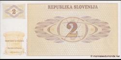 Slovénie - p02 - 2 Tolarja - 1990