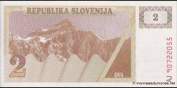 Slovénie - p02 - 2Tolarja - 1990 - Republika Slovenija