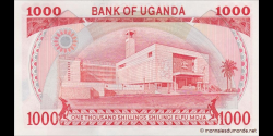 Ouganda - p26 - 1000 Shillings - 1986 - Bank of Uganda
