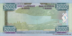 Burundi - p47 - 2 000 Francs - 2008 - Banque de la République du Burundi / Ibanki ya Republika y'Uburundi