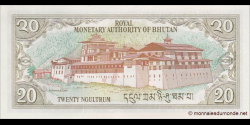 Bhoutan - p16b - 20 Ngultrum - ND (2000) - Royal Monetary Authority of Bhutan