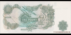 Angleterre - p374g - 1 Pound - ND (1960 - 1977) - Bank of England