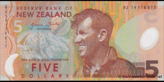 Nouvelle-Zélande - p185d - 5Dollars - 2014 - Reserve Bank of New Zealand