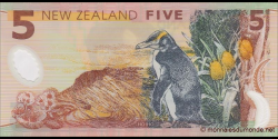 Nouvelle-Zélande - p185d - 5 Dollars - 2014 - Reserve Bank of New Zealand