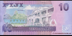 Fidji - p116 - 10 Dollars - ND (2012) - Reserve Bank of Fiji