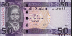 Sud - Soudan - p14c - 50 Pounds - 2017 - Bank of South Sudan