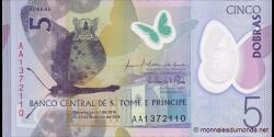 São Tomé-et-Príncipe - p70a - 5 Dobras - 2016 - Banco Central de S. Tomé e Príncipe