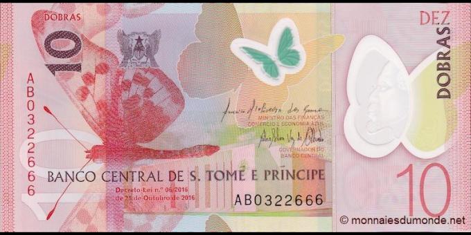 São Tomé-et-Príncipe - p71a - 10 Dobras - 2016 - Banco Central de S. Tomé e Príncipe