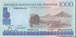 Rwanda - p27a - 1000 Francs - 01.12.1998 - Banque Nationale du Rwanda