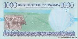 Rwanda - p27a - 1 000 Francs - 01.12.1998 - Banque Nationale du Rwanda / Banki Nasiyonali y'u Rwanda