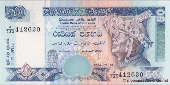 Sri - Lanka - p110d - 50Roupies - 1.7.2004 - Central Bank of Sri Lanka