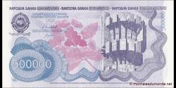 Yougoslavie - p098 - 500000 Dinara -8.1989 - Narodna Banka Jugoslavije / Narodna Banka na Jugoslavija