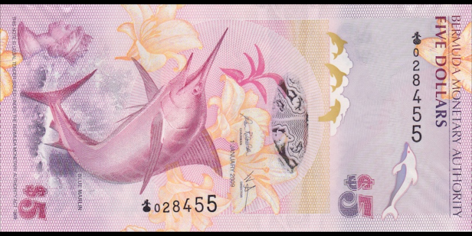 Bermudes - p58 - 5 Dollars - 2009 - Bermuda Monetary Authority