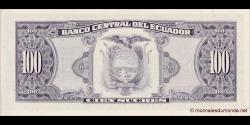 Equateur - p123Aa - 100 Sucres - 22.11.1988 - Banco Central del Ecuador