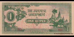 Japon - pM014a - 1 Roupies- ND (1942) - Japanese Government