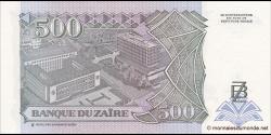 Zaire - p63 - 500 Nouveaux Zaïres - 15.02.1994 - Banque du Zaïre